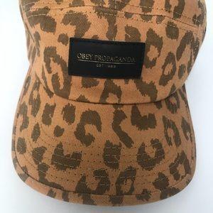 Obey Leopard Print Cap